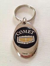 Mercury Comet Keychain Chrome Metal Key Chain