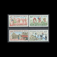 Niger, Sc #C31-34, MNH, 1963, Agriculture, peanut growing, harvesting, A5-B