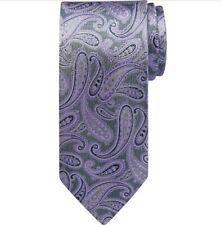 Pronto Uomo 100% Silk Tie Purple Paisley Dress Business Men's NEW