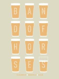 Band Of Horses Gig Poster, Washington DC 2011 (Silkscreen) 18 x 24' Print