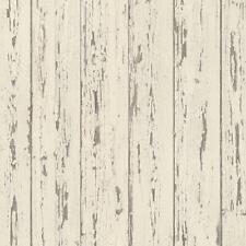Norwall Fh37528 Shiplap Prepasted Wallpaper, Cream, French Vanilla, Brown