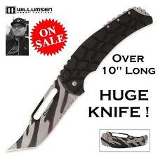Mikkel Willumsen Blondie Tactical Framelock Fighting Knife Serrated Urban Camo