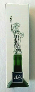 MIKASA Lead Crystal STATUE OF LIBERTY BOTTLE STOPPER Fabulous Wine-Lover's Gift