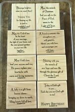 Stampin up GOD'S BLESSINGS Birthday, Thank You, Baby, Friend, Christmas *RETIRED