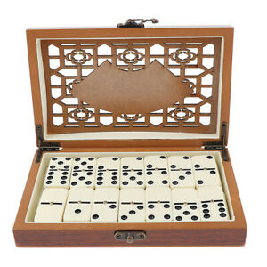 Double Six Traditional Board Game 28pcs Dominoes Set for Travel Party Fun Game
