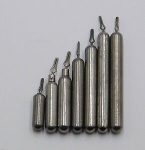 Tungsten Cylinder Drop Shot Weights Natural or Black 5 or 20 in a Pack