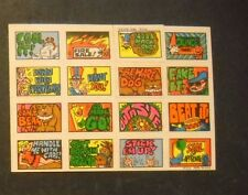 1970 STACKS OF STICKERS STICKER  TOPPS