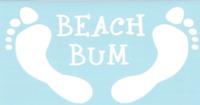 Beach Bum Car Truck Suv Window vinyl sticker decal