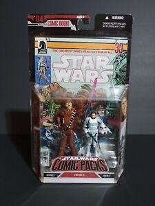 2007 Hasbro Star Wars Han Solo and Chewbacca Comic Pack #2