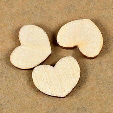 100pcs Mini Wooden Wood Love Heart Pieces Painting Craft Scrapbooking Decoration