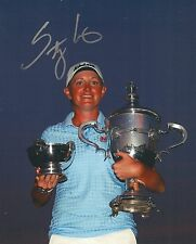 Stacy Lewis signed Lpga 8x10 Trophy photo with Coa