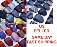 Men's Solid Color Ready Knot Pre Tied Formal Zipper Tie Neck Wear USA SELLER