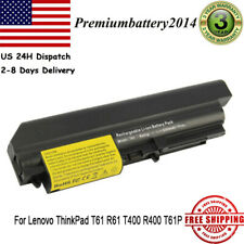 "Battery for Lenovo ThinkPad T61 R61 T400 R400 T61P 14.1"" widescreen Power Supply"