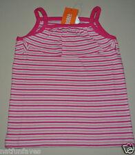 Gymboree toddler girl size 3 3T NWT striped fucchia pink tank top 100% cotton