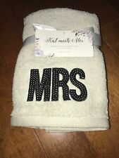 Kat Meets Alex - Embellished Mr. & Mrs. Hand Towel Set