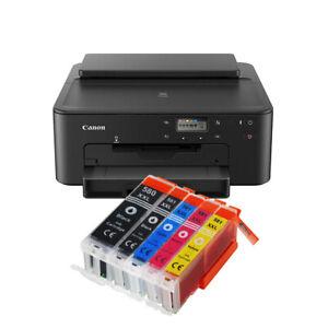 STAMPANTE CANON TS705 Wi-Fi Ethernet RETE LAN PGI580/CLI581 STAMPA DVD/CD