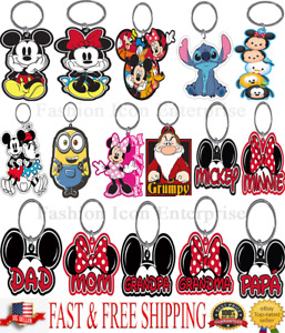 Brand New Disney keychain Family collection Mickey Goofy Donald Pluto Minnie
