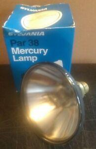 Sylvania H44GS-100/M MDSK 100 Watt Medium Skirted Screw Base Mercury Par38 Lamp