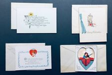 Greeting cards - 11 different, sent to same person 1920s-40s?