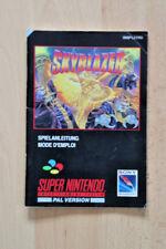 SNES skyblazer istruzioni tedesco/France-Super Nintendo