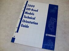 2000 Yamaha Off-Road Technical Orientation Guide - YZ 80 125 250 426 and MORE!