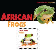Tanzania 2015 - African Frogs - Red Eyed Tree Frog - Souvenir Sheet - MNH