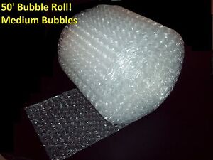 """50 Foot Medium Bubble® Wrap Roll! 5/16"""" Bubbles! 12"""" Wide!  Perforated Every 12"""""""