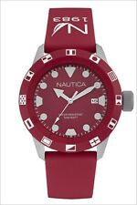 Nautica Men's NSR 100 Flag Red Silicone Watch NAD09510G