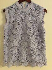 Nanette lepore Knit Lilac Sleeveless Blouse Size M
