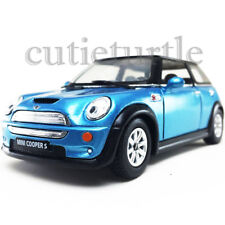Kinsmart Mini Cooper S 1:28 Diecast Toy Car Light Blue