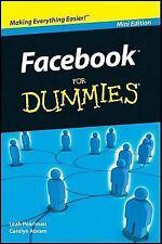 Facebook for Dummies (Mini Edition) [Paperback] Carolyn Abram, Leah Pearlman, J