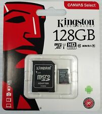 Kingston 128GB Canvas Select UHS-I microSDXC Memory Card with SD Adapter - New