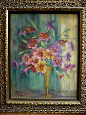 ANNIE POGSON, LISTED CALIFORNIA CA MODERN COLORIST OIL FLOWERS FLORAL LUMINOUS