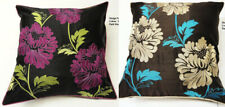 FLEUR Embroidered Floral Faux Silk Cushion Cover 45cm x 45cm Decor - 2 Colours