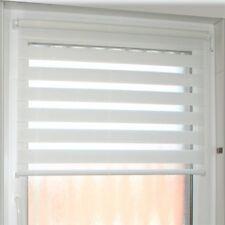 Doppelrollos weiß / Klemmrollos, Stoffmaß 67,5 x 215 cm (BxH) für Balkontüren