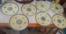 "(7) Caleca CAROUSEL 11"" dinner Plates hp  handpainted set made in Italy Italian"