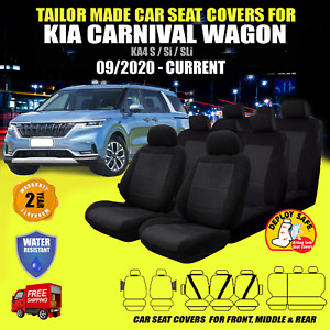 Car Seat Covers Fit KIA CARNIVAL Front Middle & Rear 09/2020-Current Airbag Safe