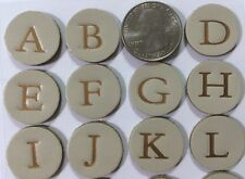 ROUND METALLIC CREAM LEATHER Inspirables Stickers(35pc)Sticko•Upper-Case Letters