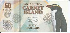CARNEY ISLAND ANTARTIDA 50 DOLLARS 2016
