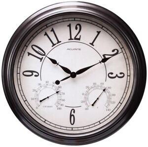 AcuRite Indoor/Outdoor Bronze Clock