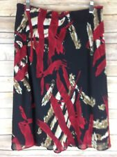 Tribal Skirt A-Line Multi Color Lined Women's Size 8