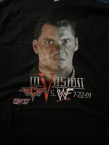 WWF Vintage InVasion PPV Vince McMahon Shane McMahon Wrestling T Shirt XL WWE