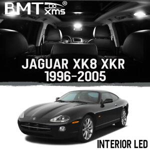 16x White Interior LED Kit + License Plate Light for Jaguar XK8 XKR 1996-2005