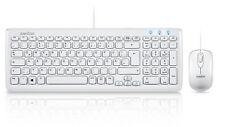 Perixx Periduo-303 W Tastatur USB weiß D