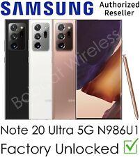 Samsung Galaxy Note 20 Ultra 5G N986U1 AT&T Sprint T-Mo Verizon Factory Unlocked
