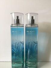 Bath & Body Works Pack Of 2 Sea Island Cotton Fine Fragrance Mist 8 oz