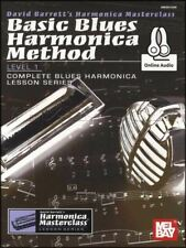 Basic Blues Harmonica Method Level 1 Sheet Music Book with Audio Learn To Play