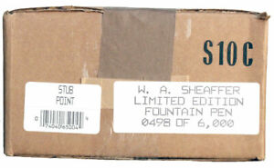 1997 SHEAFFER BALANCE LIMITED EDITION FOUNTAIN PEN STUB NEVER INKED NIB MINT