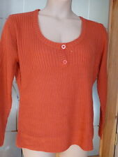Women's Medium Knit Scoop Neck Button Acrylic Jumpers & Cardigans