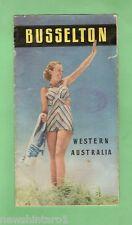 #D116. 1949 BUSSELTON, WESTERN AUSTRALIA, TOURISM PAMPHLET